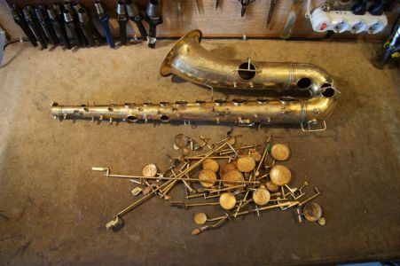 Disassembled sax