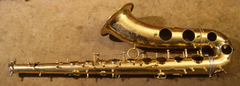 Assembled saxophone body