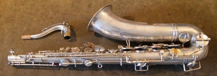 1945 Buescher Big B tenor after restoration. Professional set up with new pads, resonators, corks, felts and springs